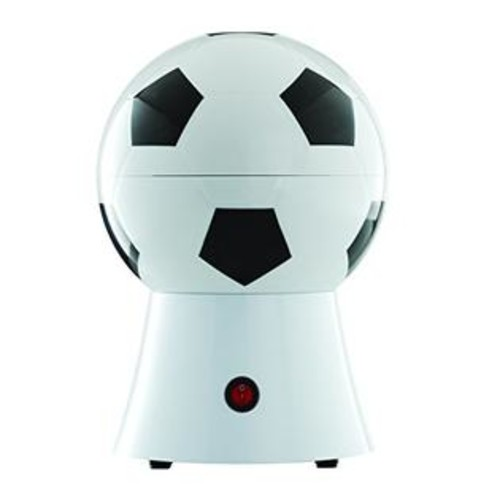 Brentwood PC-482 Soccer Ball Popcorn Maker, 8-Inch x 7.25-Inch x 11.5-Inch, Black and White