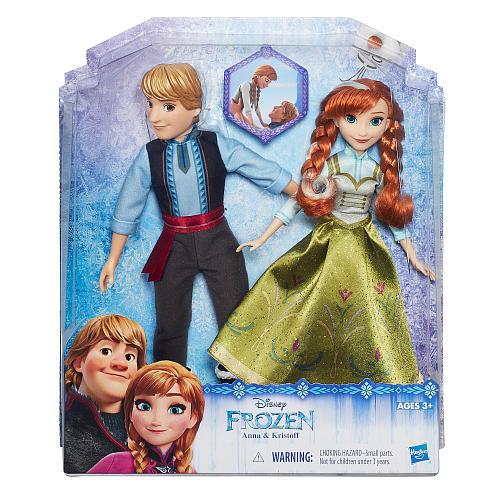 Disney Frozen Anna and Kristoff Fashion Doll 2 Pack
