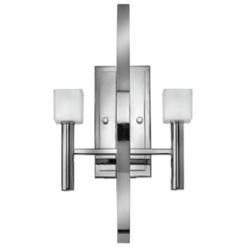 Mondo 2-Light Wall Sconce [Finish : Polished Chrome; Shade Color : Frosted]