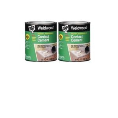 DAP Weldwood 1 qt. Non-Flamable Contact Cement (2-Pack)