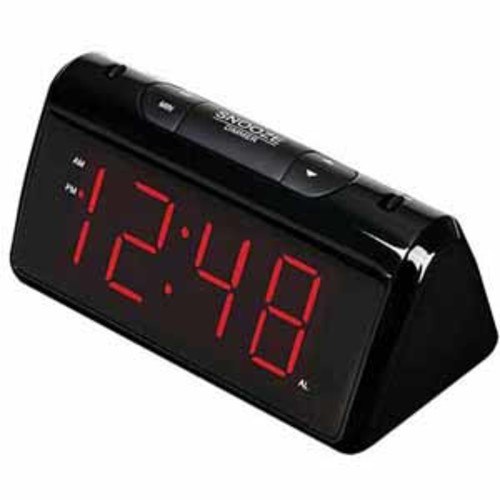 RCA AM/FM Digital Dimmable Projection Alarm Clock Radio with 1.8 LED Display