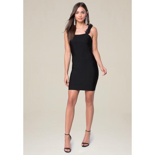 Faux Fur Strap Dress