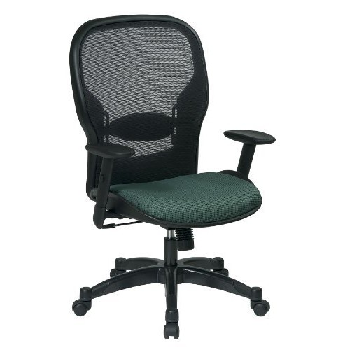 Space Seating 23-Series Professional AirGrid Back and Amazon Fabric Seat Managers Chair, Multicolor