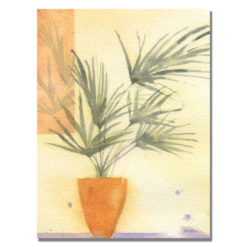 Trademark Global Sheila Golden 'Palm' Canvas Art [Overall Dimensions : 24x32]