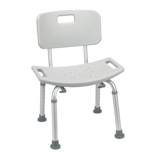 Drive Medical Grey Bathroom Safety Shower Tub Bench Chair with Back
