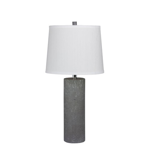 Fangio Lighting 26 in. Contemporary Column Ceramic Table Lamp in a Gray