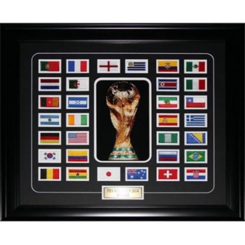 Midway Memorabilia Fifa 2014 World Cup Final 32 Team Patch Soccer Frame