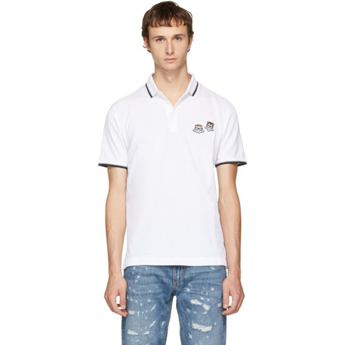 DOLCE & GABBANA White Angel Designers Polo