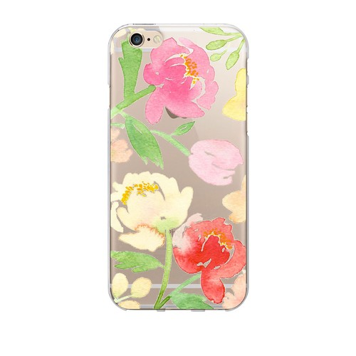 Peonies Clear Phone Case - iPhone 6/6s/7/7s