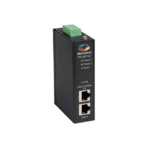 Microsemi PD-9001GI/DC - PoE injector (DIN rail mountable) - DC 20 - 60 V - 30 Watt - output connectors: 1