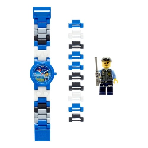 LEGO City 'Special Police' Kid's Minifigure Interchangeable Links Watch