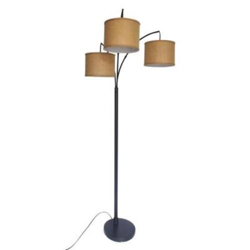 Adesso 80 in. Antique Bronze 3 Arc Floor Lamp