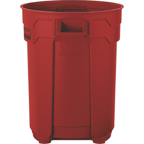 Suncast 55-Gallon Utility Trash Can  Red,