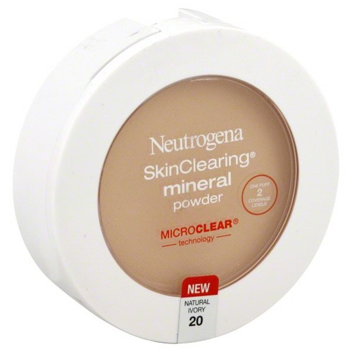 Neutrogena Skin Clearing Mineral Powder, Natural Ivory 20, 0.38 oz (11 g)