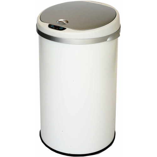 iTouchless - 8-Gal. Deodorizer Sensor Trash Can - Pearl White