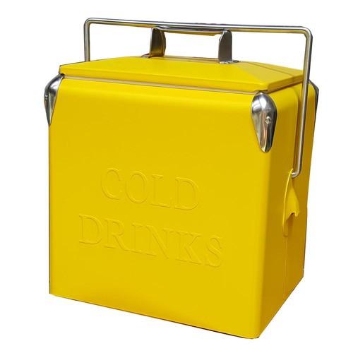 Permasteel 14 Qt. Portable Picnic Cooler in Yellow