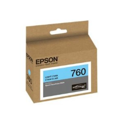 Epson 760 - Light cyan - original - ink cartridge - for SureColor P600, SC-P600 (T760520)