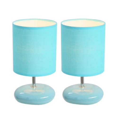 Simple Designs Stonies Bedside Table Lamps, 10 5/8