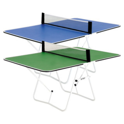 Butterfly Junior 3/4 Size Table Tennis Table - 3 Year Warranty - Foldable with Wheels - Fully Assembled - Mini Ping Pong Table - Blue