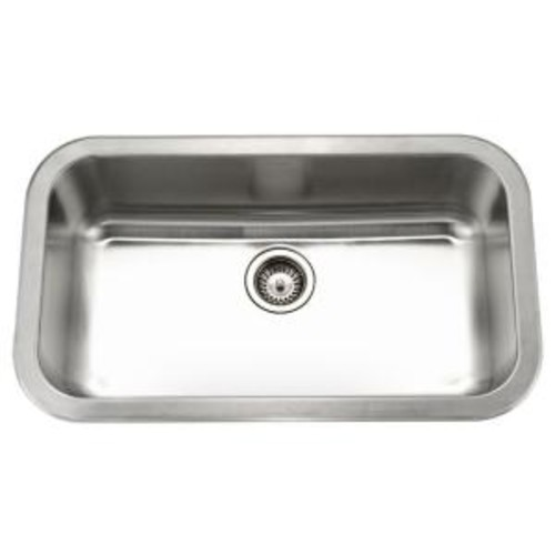 HOUZER Medallion Gourmet Undermount Stainless Steel 32 in. Large Single Bowl Kitchen Sink