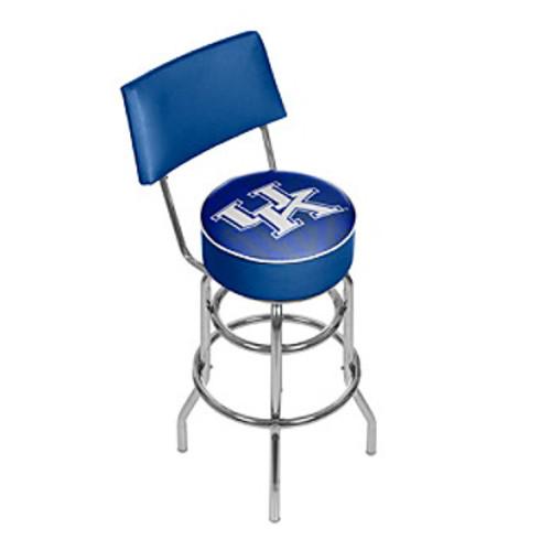 University of Kentucky Swivel Bar Stool with back - Fade