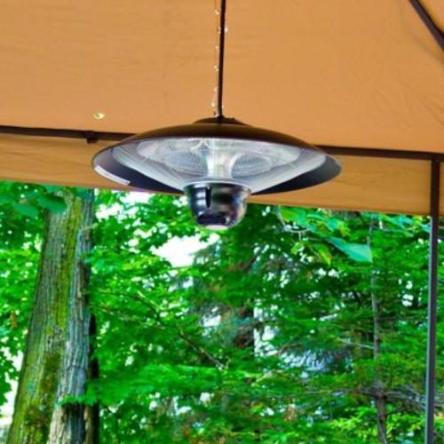 EnerG+ Hanging Infrared 1500 Watt Electric Hanging Patio Heater; Black