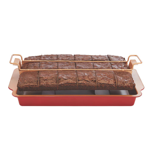 As Seen on TV Red Copper Brownie Bonanza