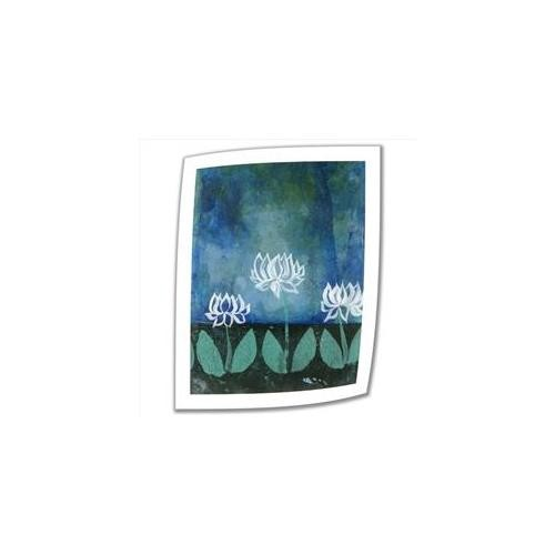 Artwal Lotus Blossom Unwrapped Canvas Art by Elena Ray with 2-Inch Accent Border, 18 x 24 Inch