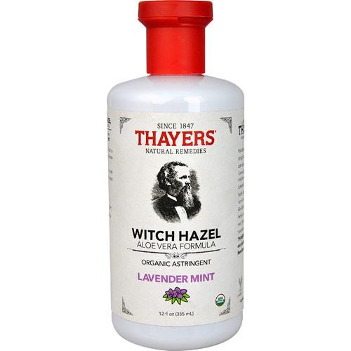 Thayers Witch Hazel Aloe Vera Formula Organic Astringent Lavender Mint -- 12 fl oz
