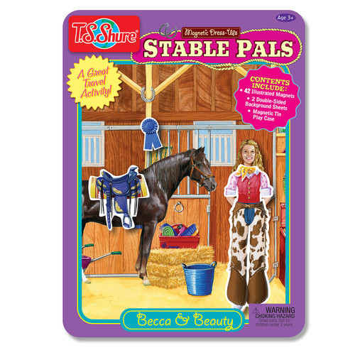 TS Shure Stable Pals Dress Ups Magnetic Tin Playset