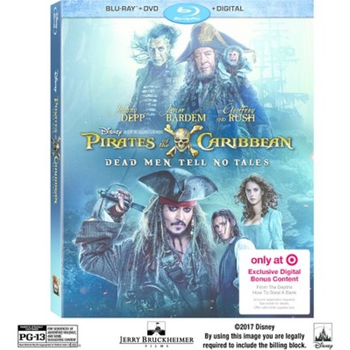 Pirates Of The Caribbean: Dead Men Tell No Tales Target Exclusive (Blu-ray + DVD + Digital)