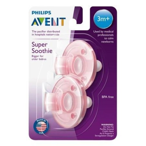 Philips Avent BPA Free Soothie Pacifier, 3 Months+ Blue/Pink