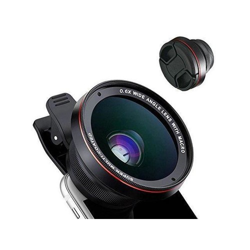 Cell Phone Camera Lens, 2 in 1 Professional HD Camera Lens Kit, 15X Macro Lens, 0.6X Super Wide Angle Lens, Univeral Clip-on Lens for iPhone Samsung Most Smartphone