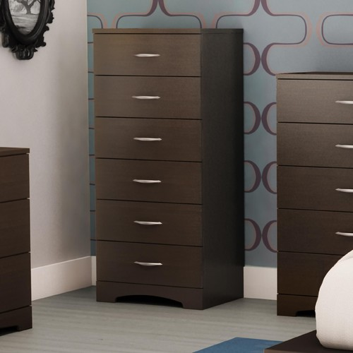 South Shore Step One collection 6-drawer Chest Chocolate