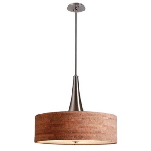Kenroy Home Bulletin 3-Light Pendant in Brushed Steel