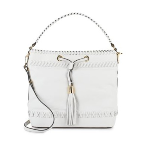 MILLY - Astor Whipstitch Leather Bucket Bag