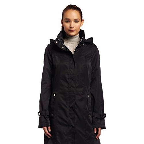 Calvin Klein Women's Long Packable Anorak Jacket [Black, X-Small]