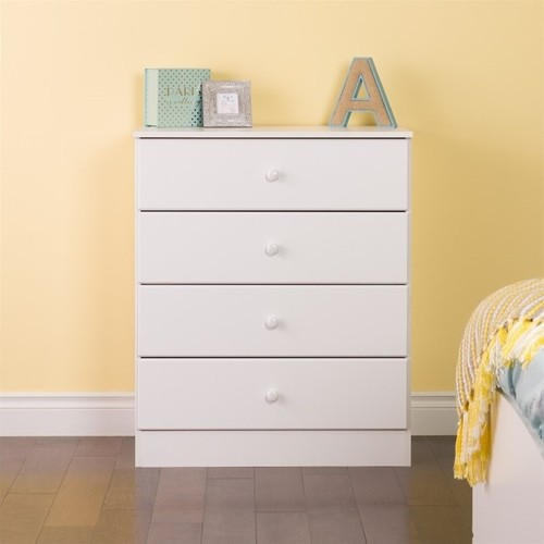 Prepac Astrid 4 Drawer Chest in White