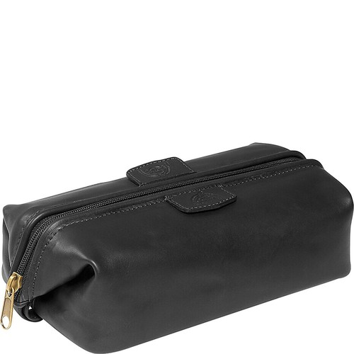 Dopp Men's First Class Leather Seasoned Traveler Admiral Kit [black, One Size]