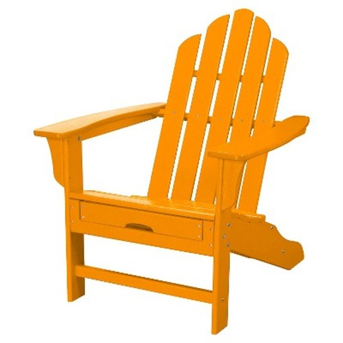Outdoor All-Weather Adirondack Chair with Attached Ottoman - Aruba - Hanover