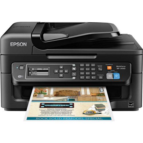 Epson - WorkForce WF-2630 Wireless All-In-One Printer - Black