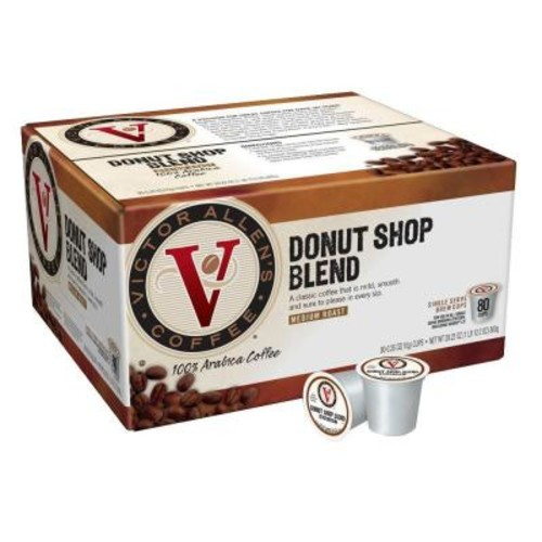 Victor Allens Donut Shop Coffee (80 Single Serve Cups per Case)