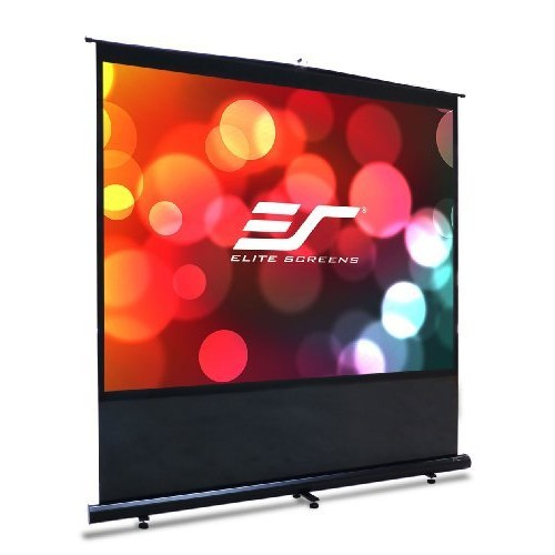 Elite Screens Reflexion Series, 120-inch Diagonal 4:3, Active 3D, 4K Ultra HD, and HDR ready, Portable Floor Pull Up Projection / Projector Screen, Model: FM120V [120