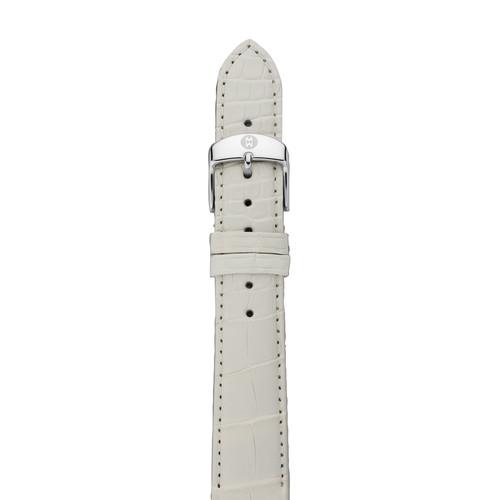 16mm Alligator Strap, White