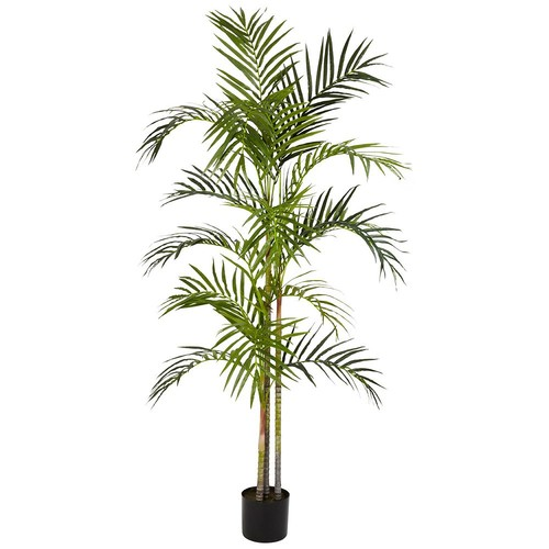 nearly natural 5-ft. Silk Areca Feathered Palm Tree