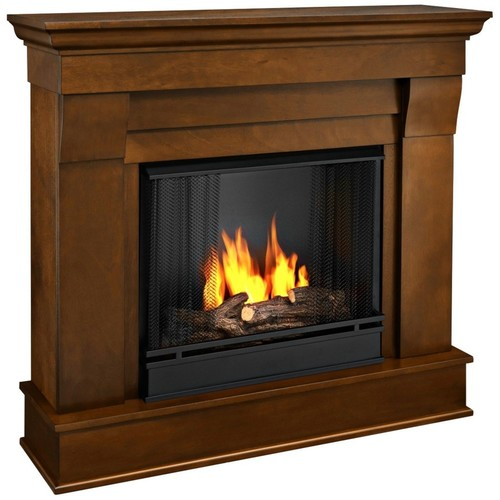 Real Flame 5910 Chateau Gel Fireplace in Espresso