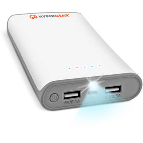 HyperCel 12000mAh Dual USB Power Bank with 2.1A+2.5AOutput