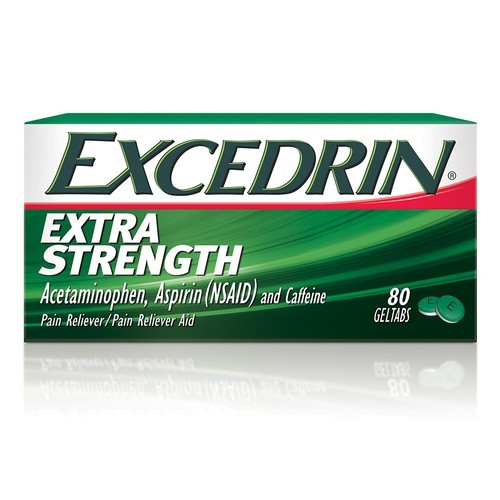 Excedrin Extra Strength, Gel Tab, 80 Count