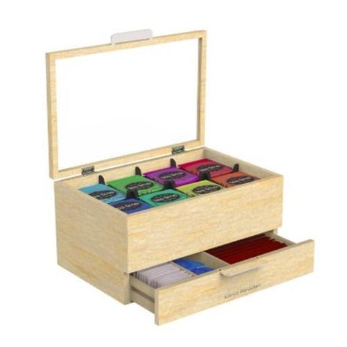 Mind Reader 'Royce' Wood Tea Bag and Accessories Holder, Brown (WTORG-BRN)