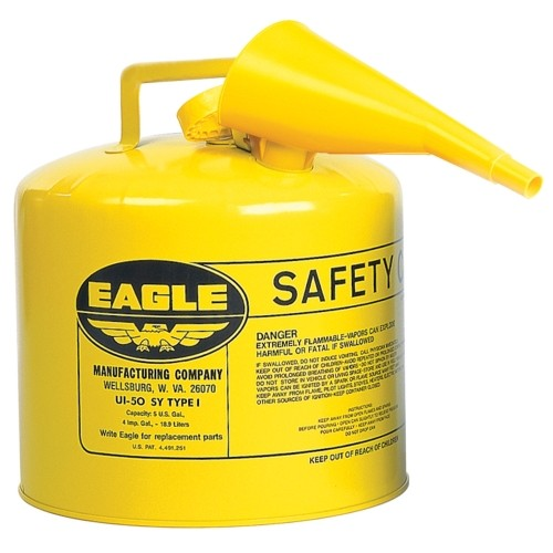 Eagle Steel Safety Diesel Can 5 gal.(UI-50-FSY)